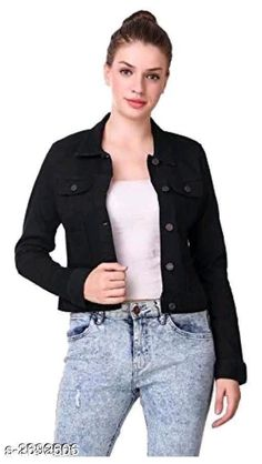Jackets Trendy Denim Women's Jacket Fabric: Denim Sleeves: Sleeves Are Included  Size: S - 34 in M - 36 in L - 38 in XL - 40 in Length: Up To 26 in Type: Stitched Description: It Has 1 Piece Women's Jacket  Work: Button Work Country of Origin: India Sizes Available: S, M, L, XL   Catalog Rating: ★4 (487)  Catalog Name: Divine Trendy Denim Women's Jackets Vol 1 CatalogID_364533 C79-SC1023 Code: 803-2692606-117