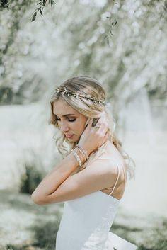 Flower Crown  Bridal Headpiece  Natural Wedding Hair Wreath