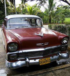 Car - Moron, Cuba by The Melancholic Gardener Vintage Cars, Antique Cars, Vintage Ideas, My Dream Car, Dream Cars, Cuban Cars, 1950s Car, Rockabilly Baby, Old Classic Cars