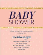 Abundance of joy custom godh bharai invitations hens and baby baby shower invitations all that glitters stopboris Image collections