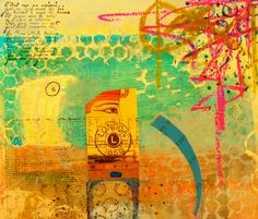 'now we know' mixed media on paper by Belle 2013
