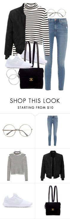 """Untitled #2417"" by mariie00h ❤ liked on Polyvore featuring M.i.h Jeans, LE3NO, NIKE and Chanel"