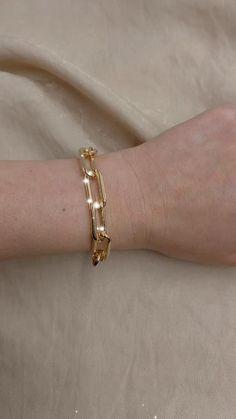 18K Gold Filled Chunky Paperclip Bracelet