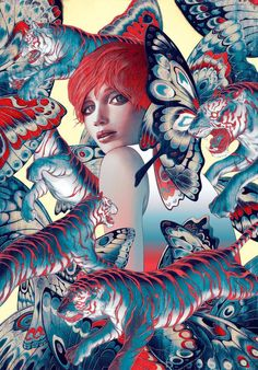 Rose Red - Fables back cover by James Jean *