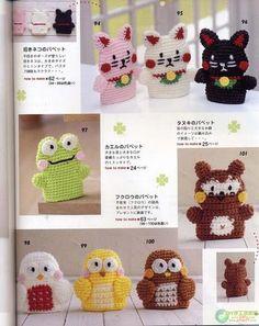 lodijoella: Titeres de dedo tejidos a crochet Octopus Crochet Pattern, Crochet Toys Patterns, Amigurumi Patterns, Stuffed Toys Patterns, Crochet For Kids, Free Crochet, Crochet Hats, Crochet Ideas, Cute Frogs