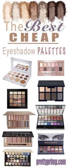 You don't have to spend a lot of money to get a great eyeshadow palette! This list has the best cheap and drugstore eyeshadow palettes that are dupes for some really famous brands!