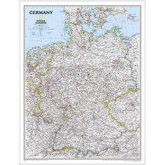 Germany Political Map | National Geographic Store
