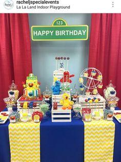 Sesame Street Birthday Party Dessert Table and Decor