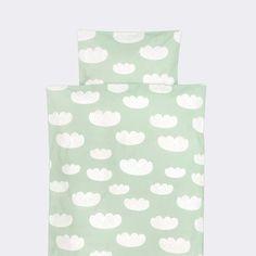 Junior Cloud Bedding in Mint design by Ferm Living