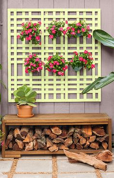 Expand patio seating and have a convenient place to store firewood with this easy-to-build storage bench. Stain the wood for a natural finish that weathers well.