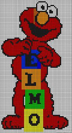 Elmo Sesame Street perler bead pattern