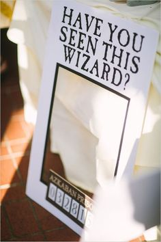 Don't Miss This Harry Potter Wedding ... #PhotoBooth; #Prop