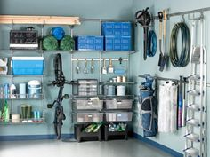 "A simple Google search with the phrase ""garage organizing"" will also yield many local companies that specialize in systems to tidy your space. Description from unclutterer.com. I searched for this on bing.com/images"