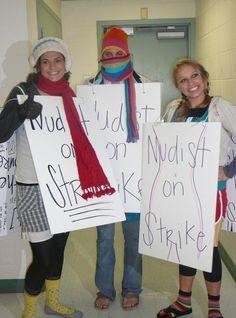 Nudist On Strike costume