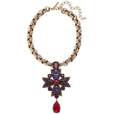 Preowned Oscar De La Renta Maltese Cross Necklace ($1,250) ❤ liked on Polyvore featuring jewelry, necklaces, beige, chain necklaces, antique gold jewelry, chunk jewelry, oscar de la renta and chunky chain necklaces