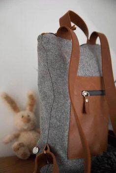 Rucksack: Rucksack aus österreichischem Loden, 100% Merinowolle und mit Details aus Leder. Ein alltäglicher Begleiter. Passend zum modernen Outfit und zu Tracht und Dirndl. Auch Kinderrucksack ----- Bagpack made from Austrian loden, 100% merinowool and dirndl cotton, details from leather. Rucksack, suitable for business and leisure. Fitting for modern outfit and traditional clothes like a Dirndl. Bagpack for children. #bagpack #sustainablefashion #rucksack Moderne Outfits, Clutch, Shopper, Babys, Leather Backpack, Christmas Gifts, Backpacks, Gift Ideas, Fashion