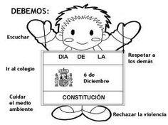 Maestra de Infantil: Fichas para colorear la Constitución Española Spanish Activities, Snoopy, Education, Fictional Characters, Thalia, Constitution, Festivals, Google, Primary Classroom