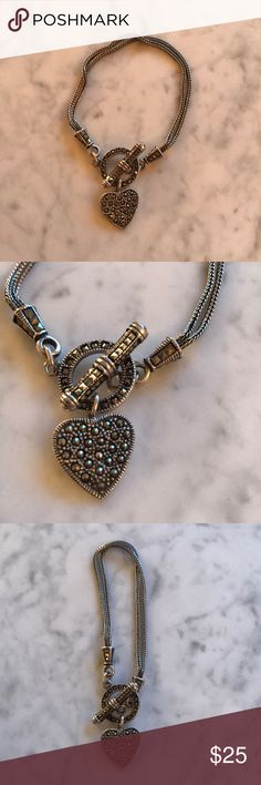 Marcasite Bracelet 💎 Heart shaped marcasite bracelet! Stunning and perfect as a gift ! 🎁 Jewelry Bracelets