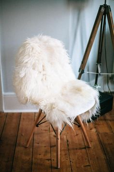 Lena Sheepskin Chair With Black Base | Tov Furniture | RSRCS   Chairs |  Pinterest | Sheepskin Throw And Interiors
