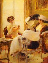 En visite by Albert Guillaume