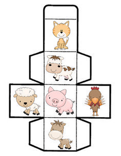 Your students will have fun learning about tally marks, counting, and graphing with this adorable farm cube game! Similar to other cube games with activities i Fun Math Activities, English Activities, Animal Activities, Farm Animals Preschool, Farm Animal Crafts, Fun Learning, Teaching Kids, Farm Lessons, Cube Games