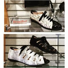 Black and white and comfortable all over- Check out these new styles from Beautifeel @beautifeel_official #shoes #sandala #laceup #patentleather #fashion #design #shopping #madeinisrael #design #instashoes