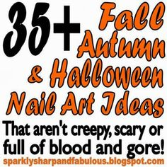 It's that time again! May I present to you my 2013 roundup of all of my favorite nail art looks for fall, autumn and Halloween! Fall, Autumn, and Halloween Nail Art Ideas {that aren't cre… Holiday Nail Art, Halloween Nail Art, Pretty Nail Art, Cool Nail Art, Seasonal Nails, Rose Nails, Nail Polish Art, Nail Tutorials, Video Tutorials