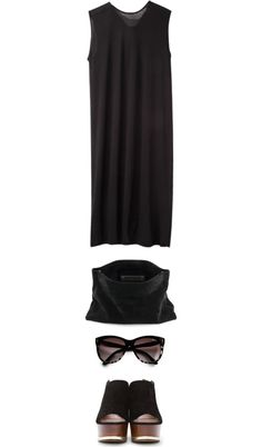 """b l a c k"" by fabuluz on Polyvore"