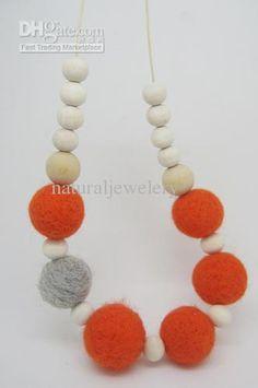 wool felt necklace - Αναζήτηση Google