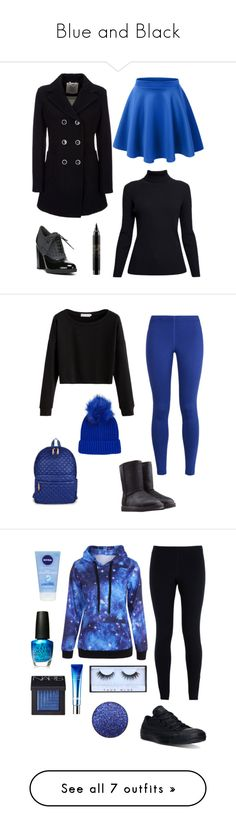 """Blue and Black"" by alaynacarrick ❤ liked on Polyvore featuring Rumour London, Franco Sarto, MAC Cosmetics, Geox, NIKE, UGG Australia, Topshop, M Z Wallace, Converse and OPI"