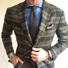 Nice business casual look Stylish Men, Men Casual, Gentlemans Club, Best Mens Fashion, Womens Fashion, Plaid Blazer, Gentleman Style, Business Fashion, Business Casual