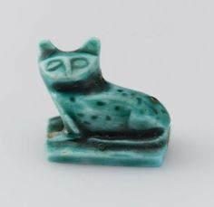 Egyptian Amulet in the form of a cat  Egyptian, New Kingdom, Dynasty 18, 1539–1295/1292 B.C.