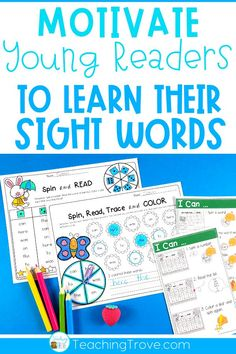 Sight word activities that are editable make it easy to create hands on teaching resources that help even your struggling readers to learn their sight words. With this editable sight word pack you can quickly make 21 literacy centers that target the sight words your class need to learn – all with a fun spring theme. These fun printables are perfect for small groups and centers.#wordwork #sightwordactivities #sightwords #kindergarten #literacycenters via @Teaching Trove