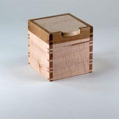 Keepsake Box of Quarter Sawn Oak Birdseye Maple by JMCraftworks