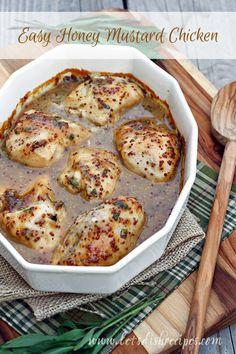 Easy Honey Mustard Chicken on MyRecipeMagic.com