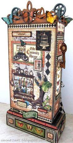 FRIENDS in ART: The Olde Curiosity Shoppe Cabinet