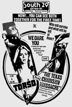 Double Bill Horror with Torso & The Texas Chainsaw Massacre