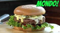 What is the Mondo-Sear Cheeseburger? 10 ounces of ground beef, seared to juicy perfection, topped with two cheeses and dressed with Mondo-Sauce goodness! Barbecue Recipes, Bbq, Cheeseburger Recipe, Hamburger Recipes, Good Burger, Smoking Meat, Served Up, Ground Beef, Kettle