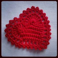 Coração crochet  Crochet heart