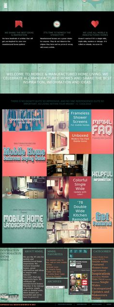 Mobile & Manufactured Home Living has a new design!!