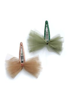 tulle bow hair barrette