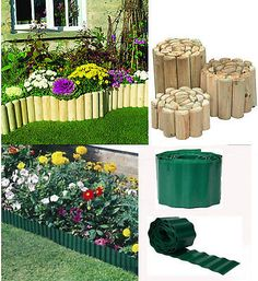 GREEN PLASTIC GARDEN GRASS LAWN EDGE EDGING BORDER FENCE WALL DRIVEWAY ROLL PATH | Other Landscaping Materials | Landscaping & Garden Materials - Zeppy.io