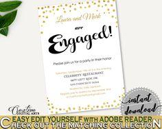 Engagement Invitation Bridal Shower Engagement Invitation Confetti Bridal Shower Engagement Invitation Bridal Shower Confetti CZXE5 #bridalshower #bride-to-be #bridetobe