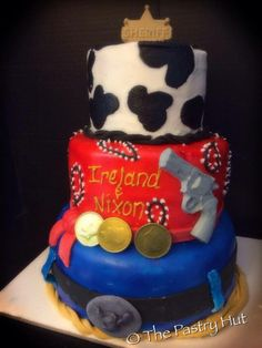 cowboy themed cake www.facebook.com/thepastryhut