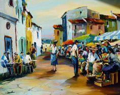 Art Gallery, Wallpaper Pictures, Flower Market, City Art, Art Market, Caricature, Landscape Paintings, Rajasthan India, Romania