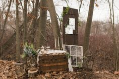 Rustic woodland outdoor fairytale wedding 19