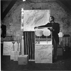 Image by Robert Rauschenberg, Cy Twombly with Artworks at Fulton Street, 1954