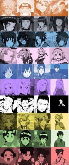 Naruto, Hinata, Sasuke, Sakura, Sai, Ino, Shikamaru, Temari, Lee and TenTen