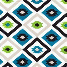 Textila   Azul :: Mixteca by Eleanor Grosch for Cloud9 Fabrics