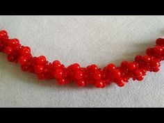 Колье из коралловых бусин. Американский крученый жгут. Necklace. DIY - YouTube